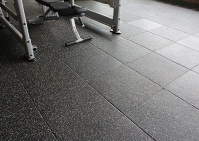gym with impact tile